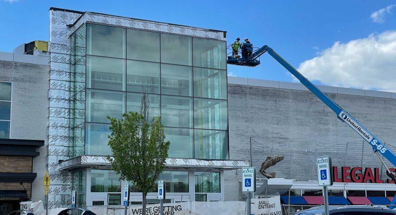 Construction at the Burlington Mall in Burlington, Masschusetts